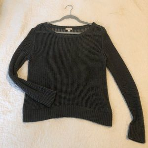 Small Gap Grey Sweater with holes